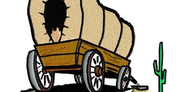 covered wagon at AZ cactus